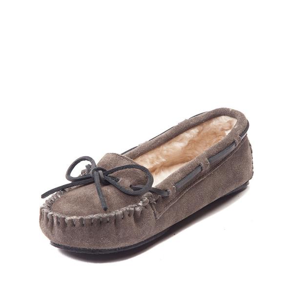 alternate view Womens Minnetonka Cally Casual Shoe - GrayALT2
