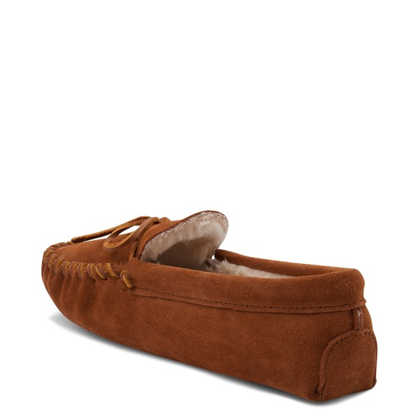 alternate view Mens Minnetonka Pile Lined Softsole Slipper - BrownALT2