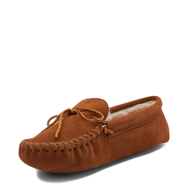 alternate view Mens Minnetonka Pile Lined Softsole Slipper - BrownALT3
