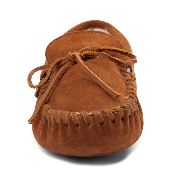 alternate view Mens Minnetonka Pile Lined Softsole Slipper - BrownALT4
