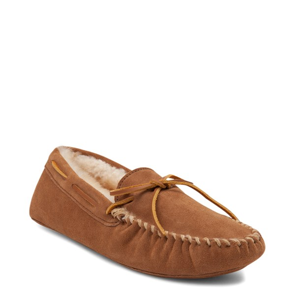 alternate view Mens Minnetonka Sheepskin Softsole Moccasin Slipper - TanALT1