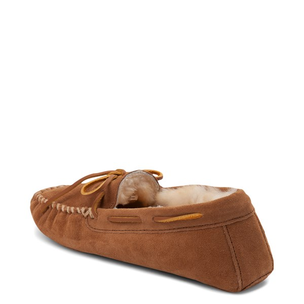 alternate view Mens Minnetonka Sheepskin Softsole Moccasin Slipper - TanALT2
