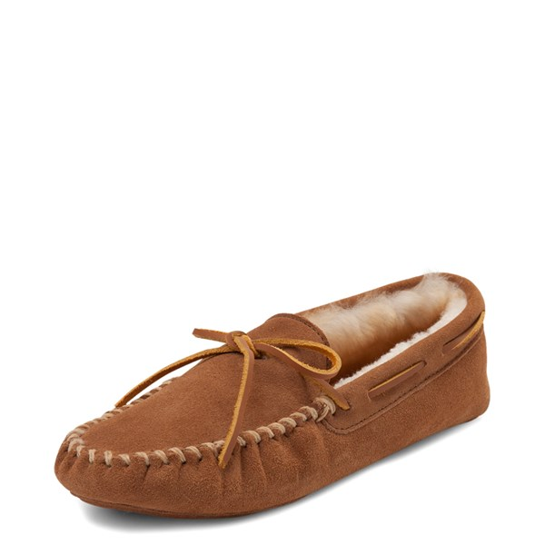 alternate view Mens Minnetonka Sheepskin Softsole Moccasin Slipper - TanALT3