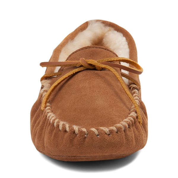 alternate view Mens Minnetonka Sheepskin Softsole Moccasin Slipper - TanALT4