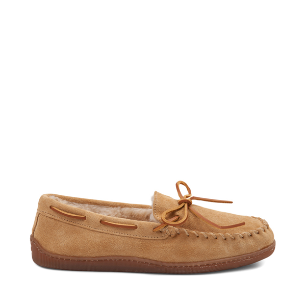Mens Minnetonka Pile Lined Hardsole Slipper - Tan