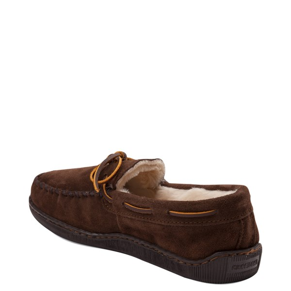 alternate view Mens Minnetonka Pile Lined Hardsole Slipper - ChocolateALT2