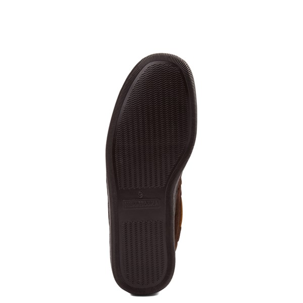 alternate view Mens Minnetonka Pile Lined Hardsole Slipper - ChocolateALT5