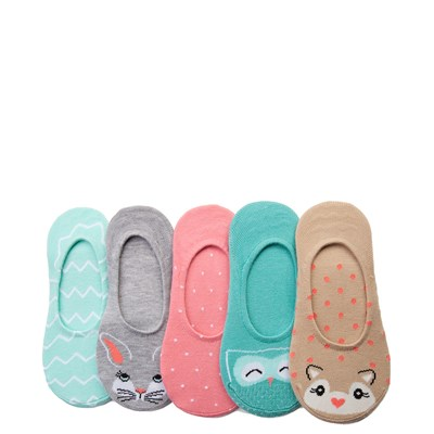 Main view of Girls Youth Critter Liners 5 Pack