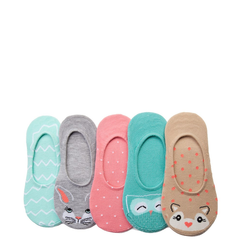 Girls Youth Critter Liners 5 Pack