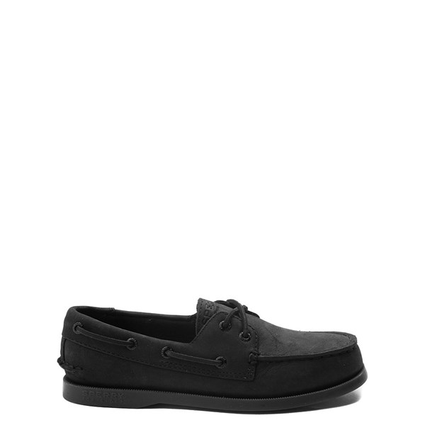 Main view of Sperry Top-Sider Authentic Original Boat Shoe - Little Kid / Big Kid - Black