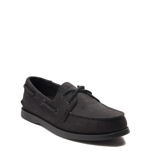 alternate view Sperry Top-Sider Authentic Original Boat Shoe - Little Kid / Big Kid - BlackALT1