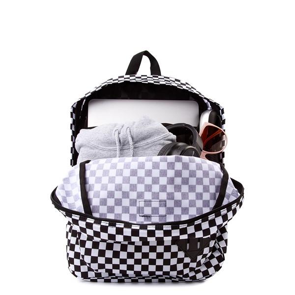 alternate view Vans Old Skool Checkerboard Backpack - Black / WhiteALT1