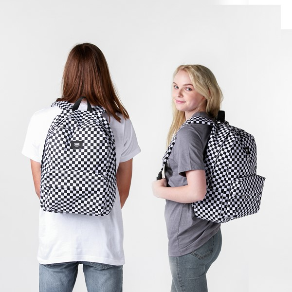 alternate view Vans Old Skool Checkerboard Backpack - Black / WhiteALT1BADULT