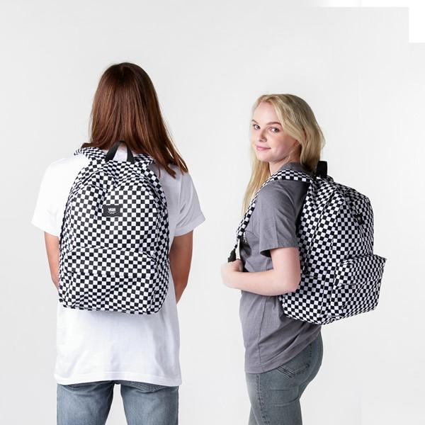 alternate view Vans Old Skool Checkerboard Backpack - Black / WhiteALT1BADULT