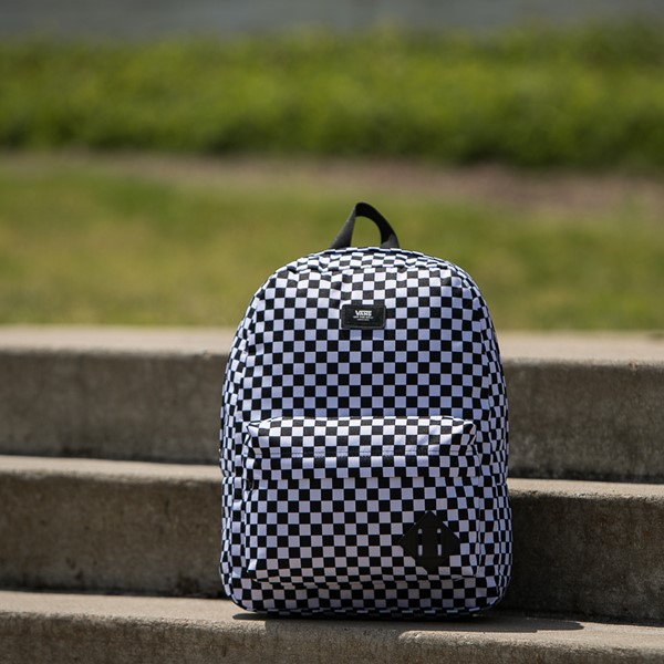 alternate view Vans Old Skool Checkerboard Backpack - Black / WhiteALT1BB
