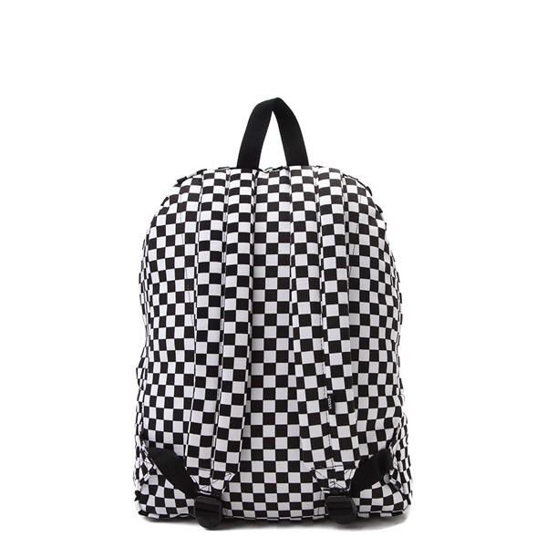 alternate view Vans Old Skool Checkerboard Backpack - Black / WhiteALT2