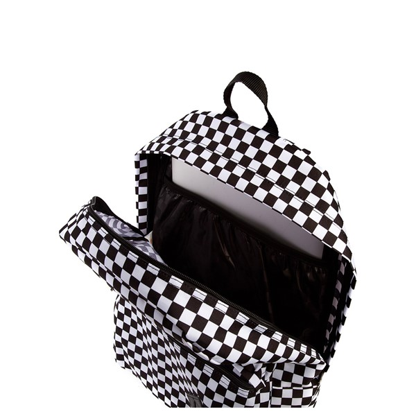alternate view Vans Old Skool Checkerboard Backpack - Black / WhiteALT3