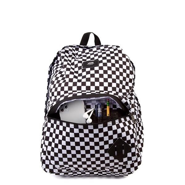 alternate view Vans Old Skool Checkerboard Backpack - Black / WhiteALT3B