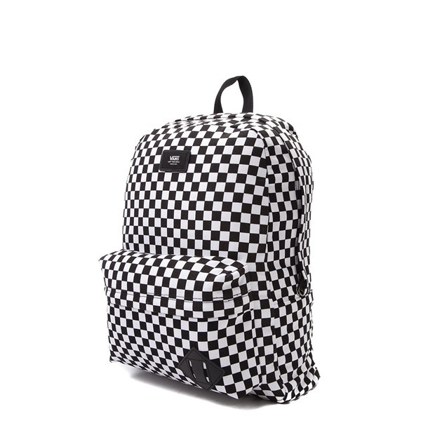 alternate view Vans Old Skool Checkerboard Backpack - Black / WhiteALT4
