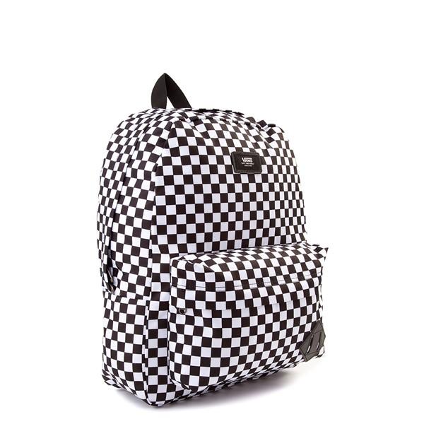 alternate view Vans Old Skool Checkerboard Backpack - Black / WhiteALT4B