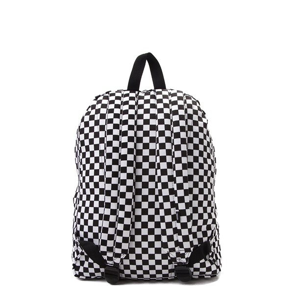 alternate view Vans Old Skool Checkerboard Backpack - Black / WhiteALT1