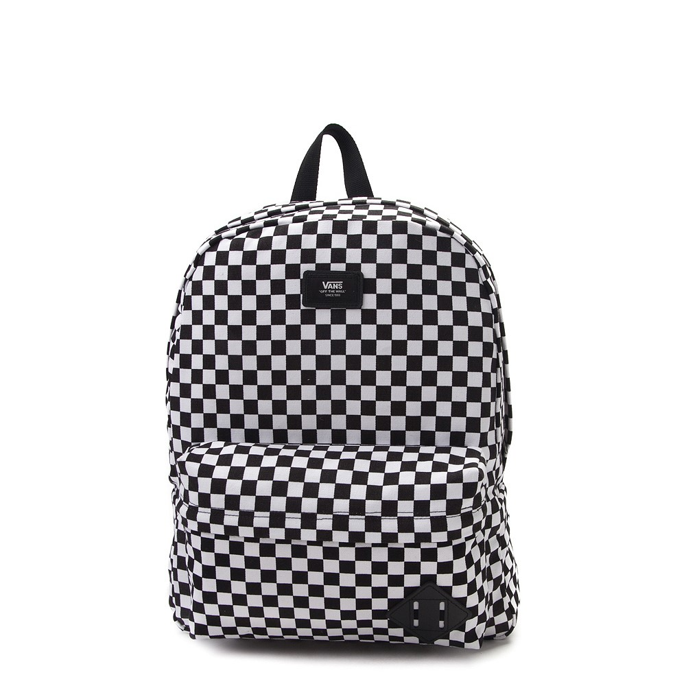 Vans Old Skool Checkerboard Backpack - Black / White