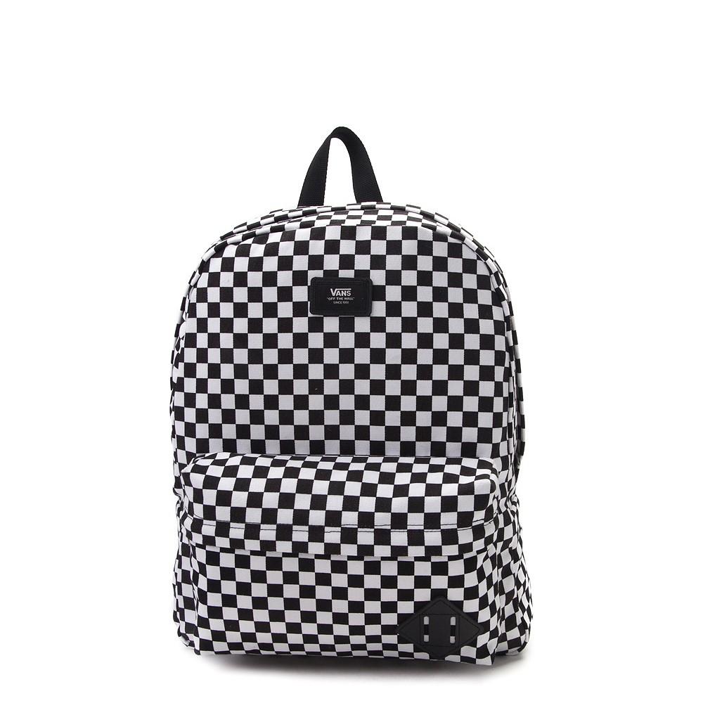 Vans Old Skool Checkerboard Backpack - Black / White