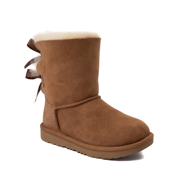 alternate view UGG® Bailey Bow II Boot - Little Kid / Big Kid - ChestnutALT5