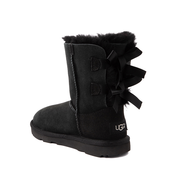 alternate view UGG® Bailey Bow II Boot - Little Kid / Big Kid - BlackALT1