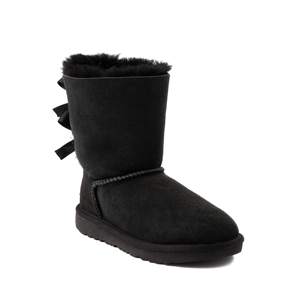 alternate view UGG® Bailey Bow II Boot - Little Kid / Big Kid - BlackALT5