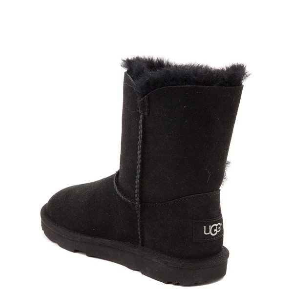 alternate view UGG® Bailey Button II Boot - Little Kid / Big Kid - BlackALT1
