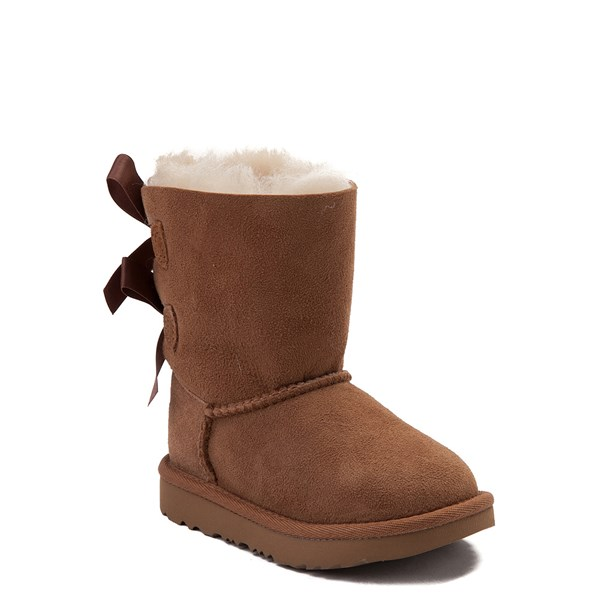 alternate view UGG® Bailey Bow II Boot - Toddler / Little Kid - ChestnutALT1