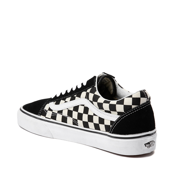 alternate view Vans Old Skool Checkerboard Skate Shoe - Black / WhiteALT1