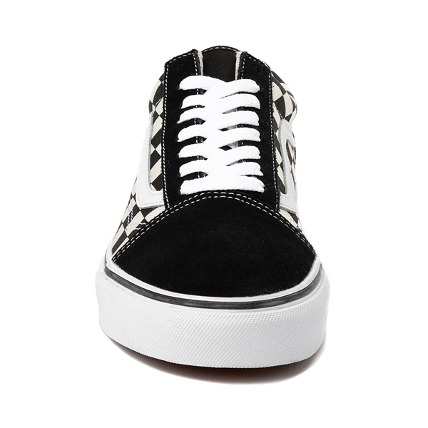 alternate view Vans Old Skool Checkerboard Skate Shoe - Black / WhiteALT4
