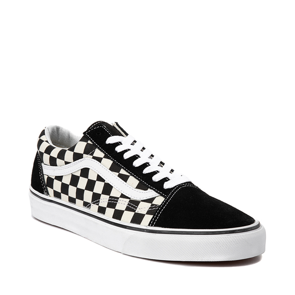 alternate view Vans Old Skool Checkerboard Skate Shoe - Black / WhiteALT5