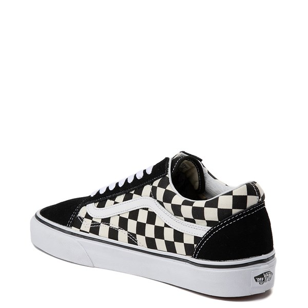 alternate view Vans Old Skool Checkerboard Skate Shoe - Black / WhiteALT2