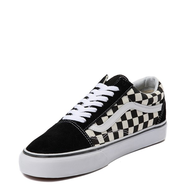 alternate view Vans Old Skool Checkerboard Skate Shoe - Black / WhiteALT3