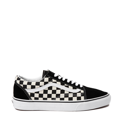 Main view of Vans Old Skool Checkerboard Skate Shoe - Black / White