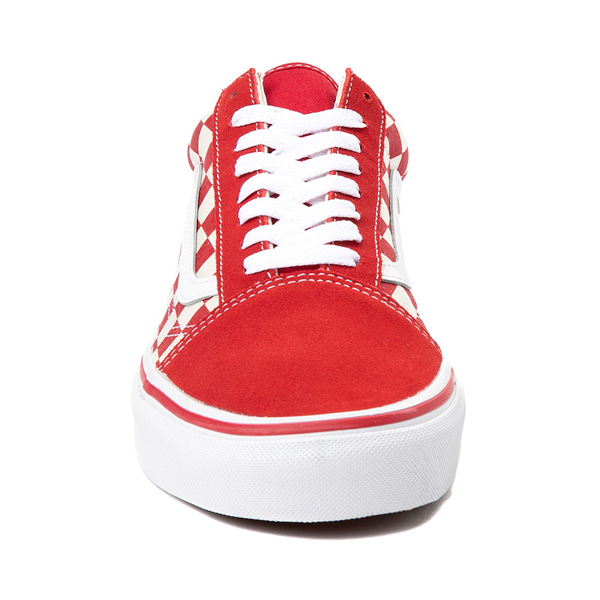 alternate view Vans Old Skool Checkerboard Skate Shoe - Red / WhiteALT4