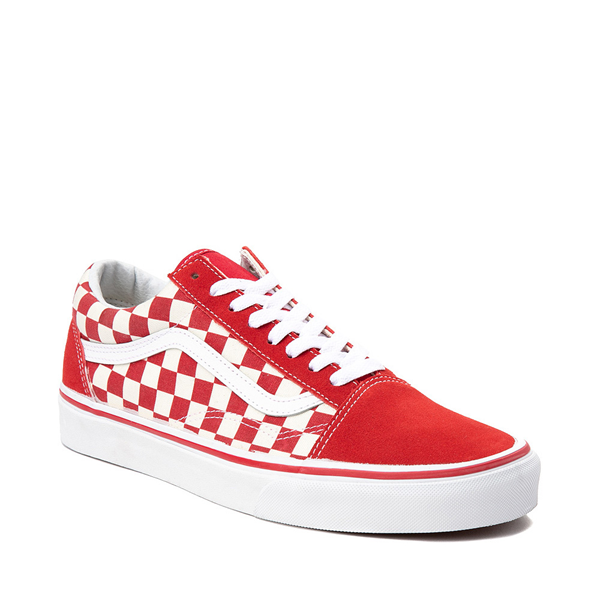 alternate view Vans Old Skool Checkerboard Skate Shoe - Red / WhiteALT5