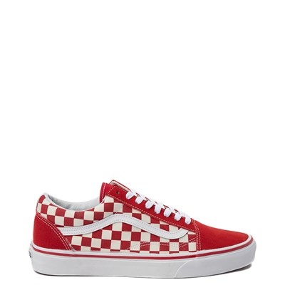 Main view of Vans Old Skool Red Chex Skate Shoe