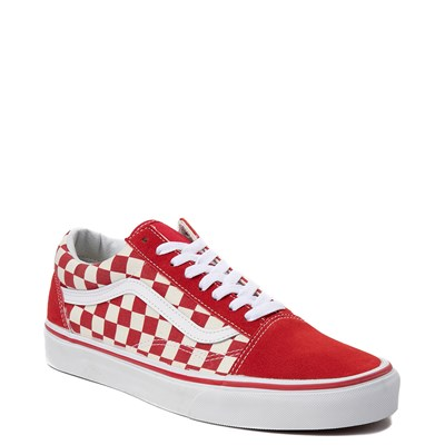 Alternate view of Vans Old Skool Red Chex Skate Shoe