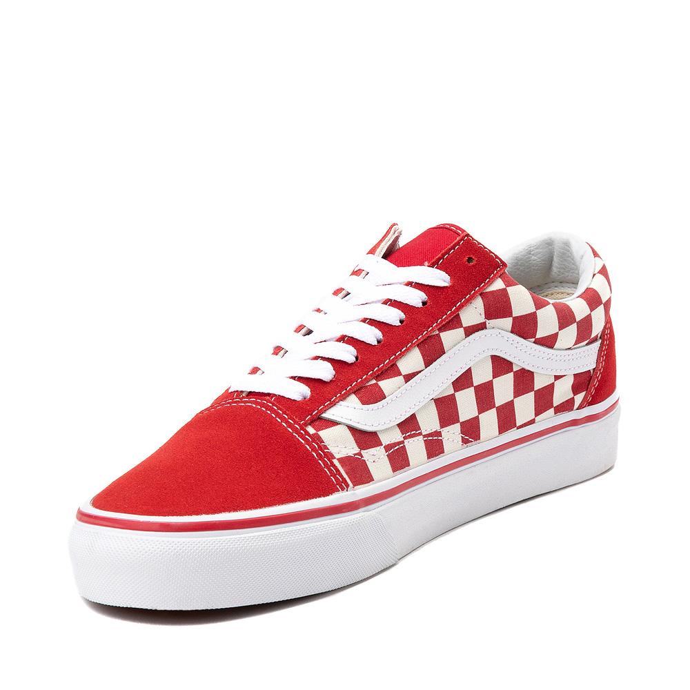 Vans Old Skool Checkerboard Skate Shoe Red White