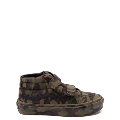 Youth/Tween Vans Sk8 Mid Reissue V Camo Skate Shoe