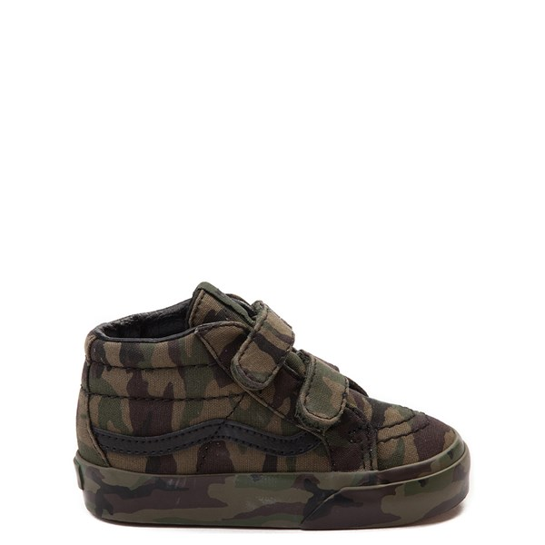 Default view of Vans Sk8 Mid V Camo Skate Shoe - Baby / Toddler