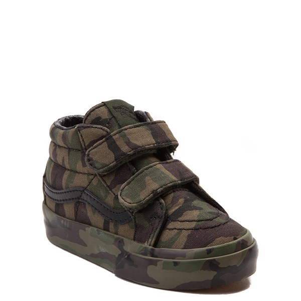 Alternate view of Vans Sk8 Mid V Camo Skate Shoe - Baby / Toddler