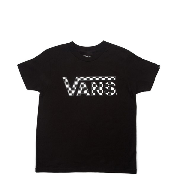 Main view of Vans Checkerboard Tee - Little Kid / Big Kid - Black