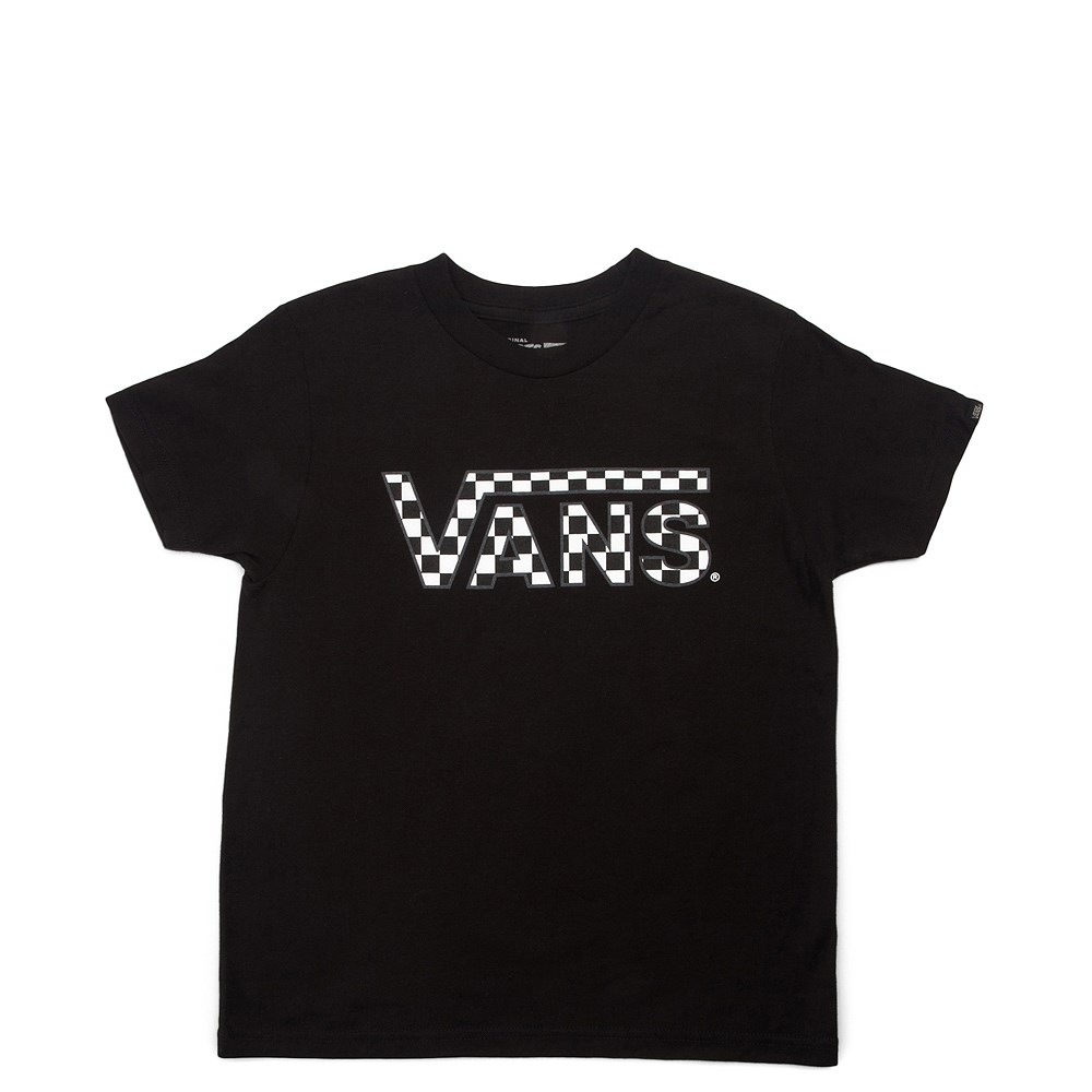 Vans Checkerboard Tee - Little Kid - Black
