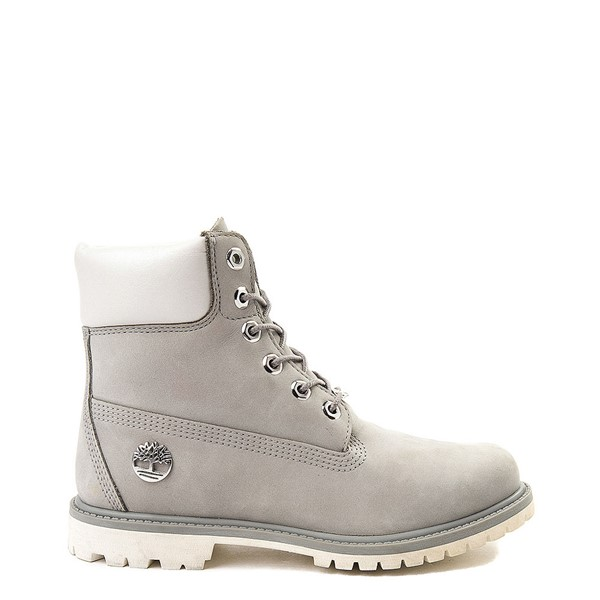 "Womens Timberland 6"" Metallic Collar Premium Boot - Gray / White"