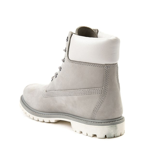 "alternate view Womens Timberland 6"" Metallic Collar Premium Boot - Gray / WhiteALT2"